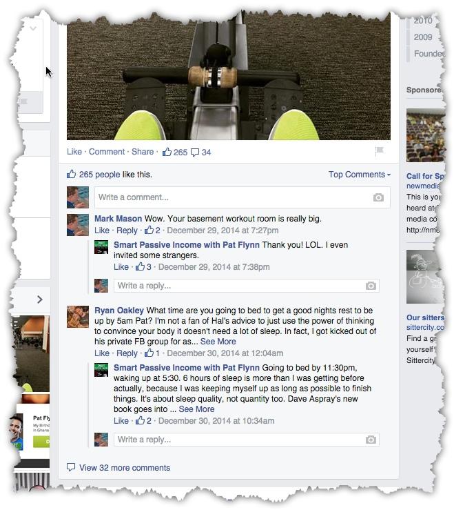 Pat Flynn comments on social media