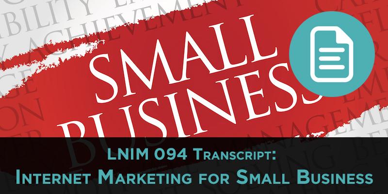 Small Business Website: LNIM094 Transcript