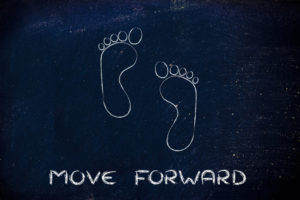 get back on track by moving forward